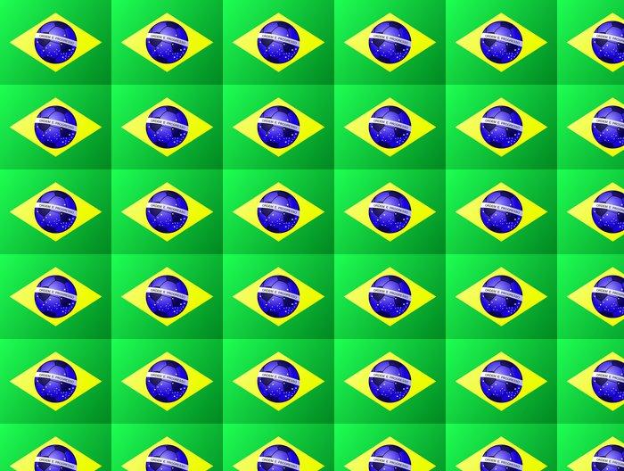 Vinylová Tapeta Brazilský fotbal vlajky - Týmové sporty
