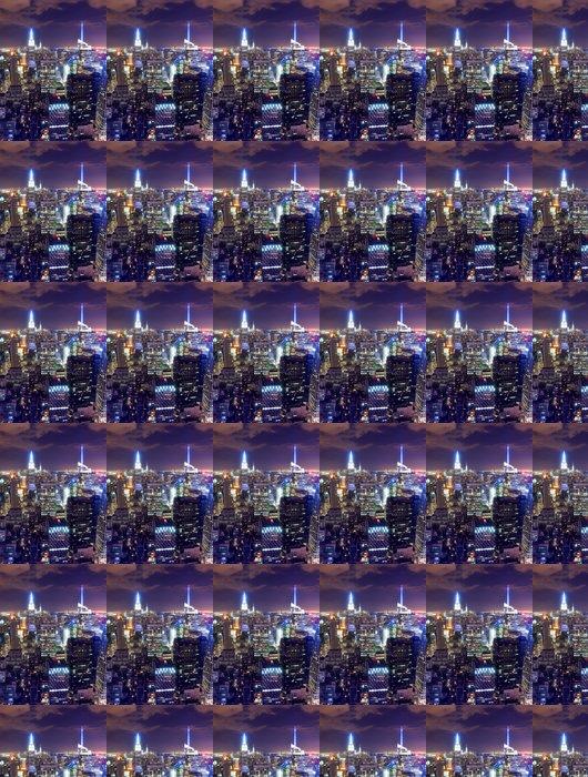 Vinylová Tapeta New York City panorama v noci - Americká města