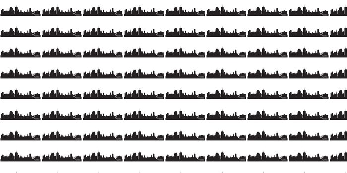 Vinylová Tapeta Quebec, Kanada panorama. Podrobný siluetu - Amerika