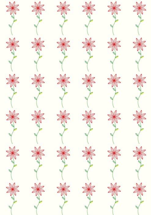 Vinylová Tapeta Vektor květinovým vzorem - Květiny