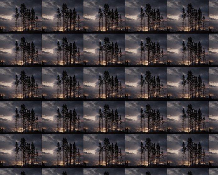 Vinylová Tapeta Strašidelné stromy - Stromy