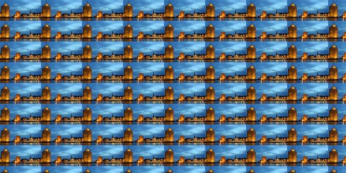Vinylová Tapeta Panorama de la Rochelle la nuit. - Prázdniny