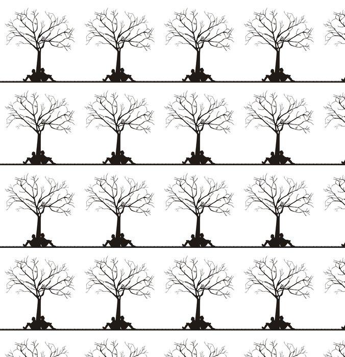 Vinylová Tapeta Pár pod stromem - Značky a symboly