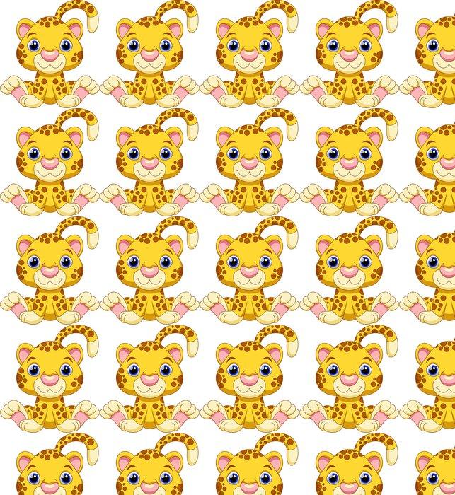 Vinylová Tapeta Roztomilé dítě gepard karikatura - Nálepka na stěny