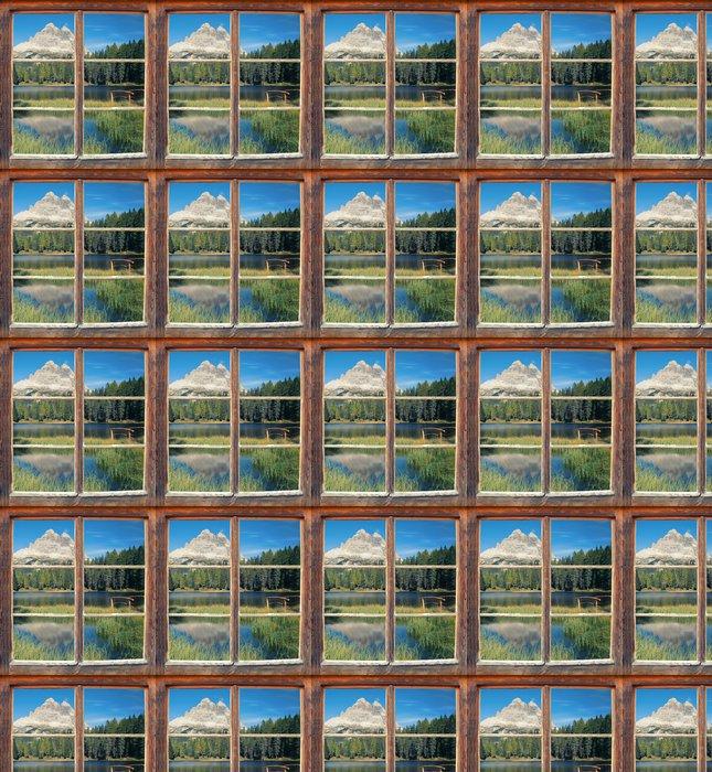 Vinylová Tapeta Pohled z okna - Three Peaks - Evropa