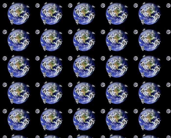 Vinylová Tapeta Astronauti Země Měsíc Space - Meziplanetární prostor