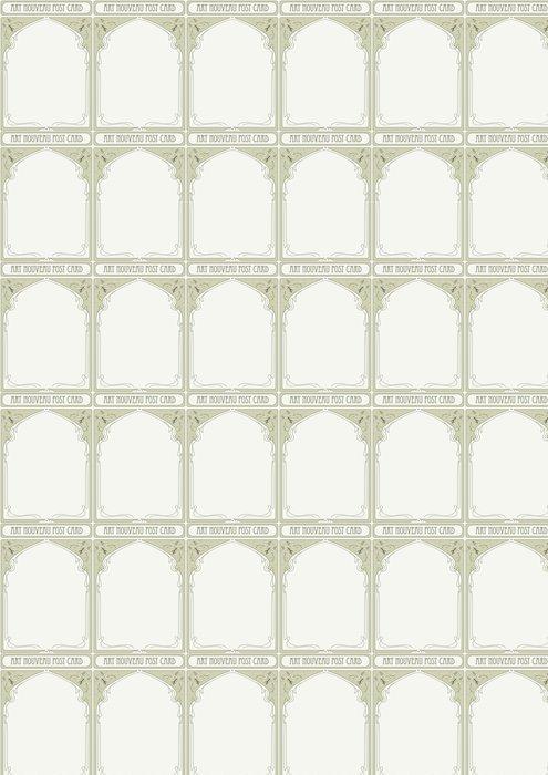 Vinylová Tapeta Art Nouveau rám s prostorem pro text - Pozadí