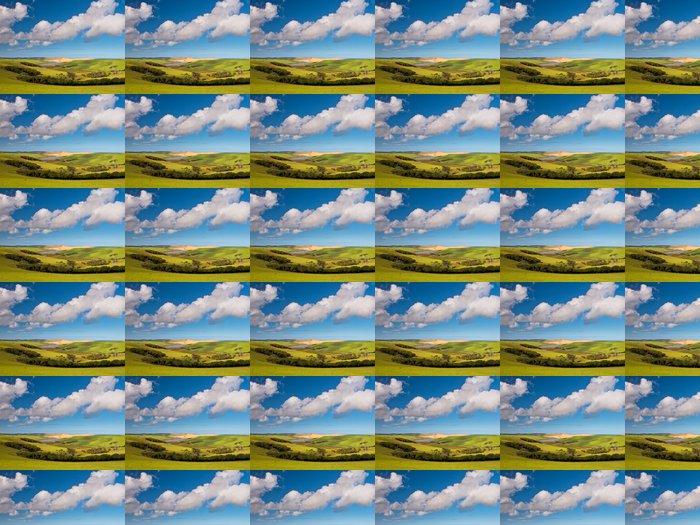 Vinylová Tapeta Green Valley klidný s modrou oblohou - Náboženství