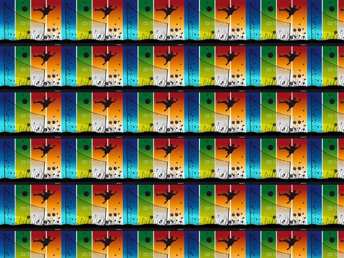 Vinylová Tapeta Lidé hrají na volejbal na přírodu, v létě - Volejbal