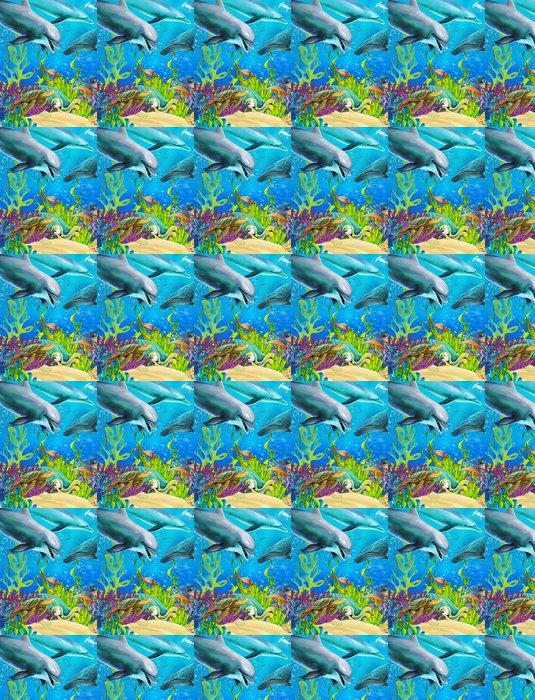 Vinylová Tapeta Korálový útes - ilustrace pro děti - Korálové útesy