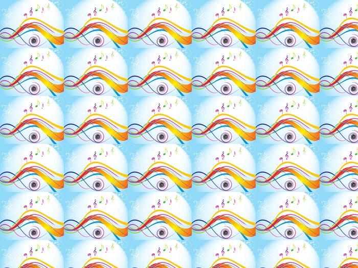 Papier Peint à Motifs Vinyle Abstraite vague colorée avec son - Arrière plans