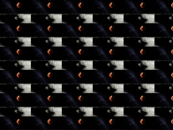 Vinylová Tapeta PLUTONE e Caronte - Meziplanetární prostor