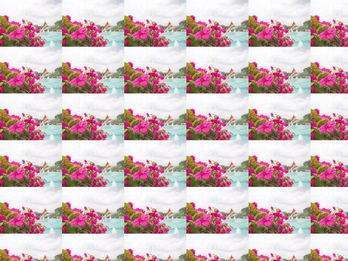 Vinylová Tapeta Popínavé rostliny a fontány - Asie