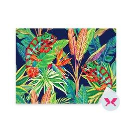 Adesivo per soggiorno - Camaleonte nella giungla