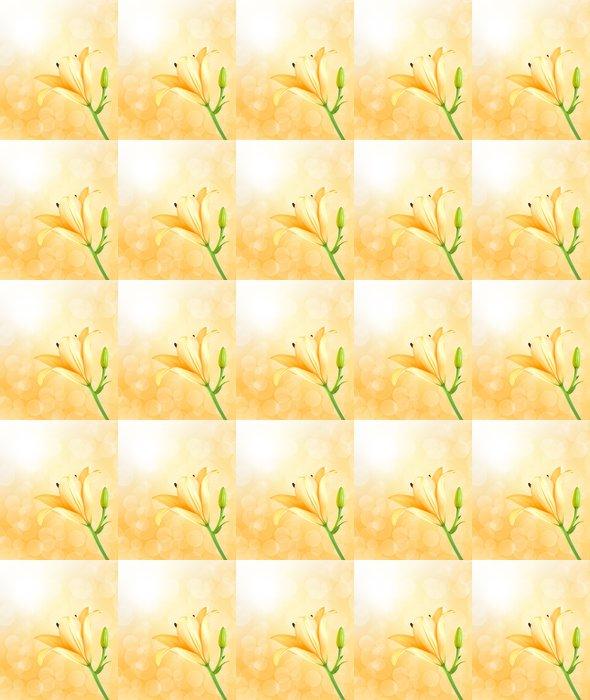 Vinylová Tapeta Žlutá lilie - Pozadí