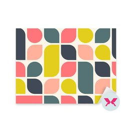 Sticker Living room - Abstract retro geometric background
