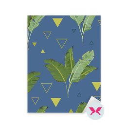 Sticker - Tropical Palm Leaves Background