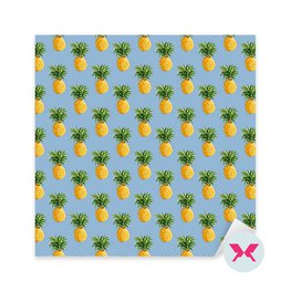 Sticker - Pineapples Tropical Background