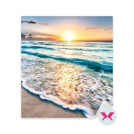 Vinilo para el dormitorio - Salida del sol sobre la playa en Cancún