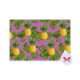 Dekor - Ananas och tropiska blad bakgrund