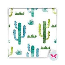 Fotomural para niños - Acuarela cactus patrón