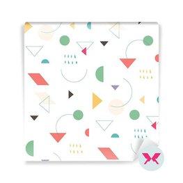 Tapet - Ljust geometriskt mönster i stil med 80-talet, 90-talet