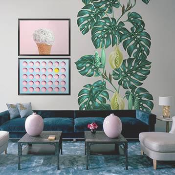 Nálepka a Plakáty do obývacího pokoje - Retro styl