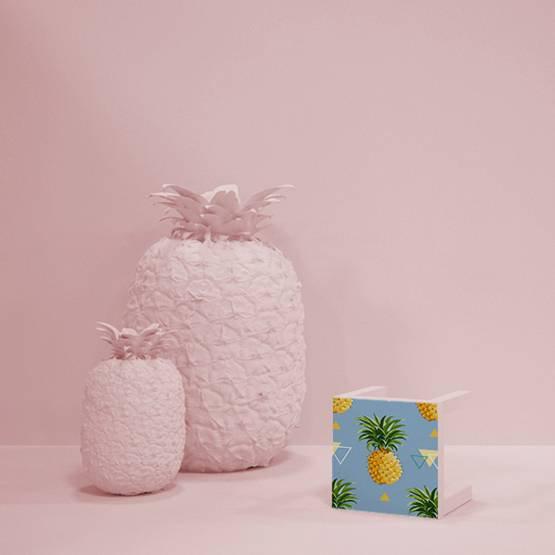 Dekor - Geometrisk ananas bakgrund