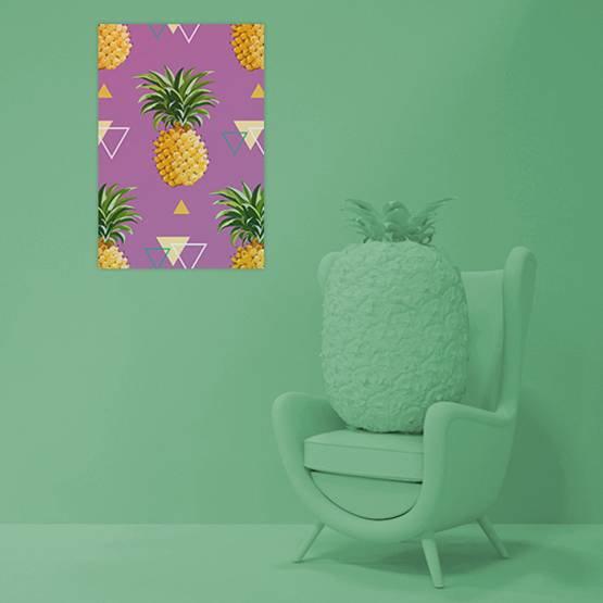 Plakat - Geometryczne ananasowe tło