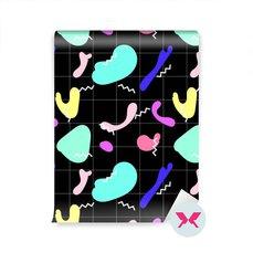 Tapet - Mönster med färgglada fläckar