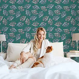 Naklejka do sypialni - Roślinny spokój