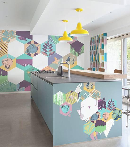 Naklejki - Geometryczna kuchnia