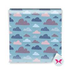 Duvar Resmi küçük çocuk - Komik güzel bulutlar