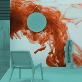 Wall Mural Living room - Ink in water