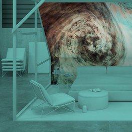Fototapeta do ložnice - Tmavé akvarel ve vodě s malými kousky barvy