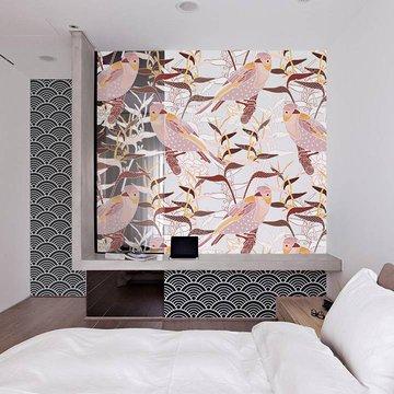 Duvar Resmi ve Çıkartması yatak odası - Japon stil