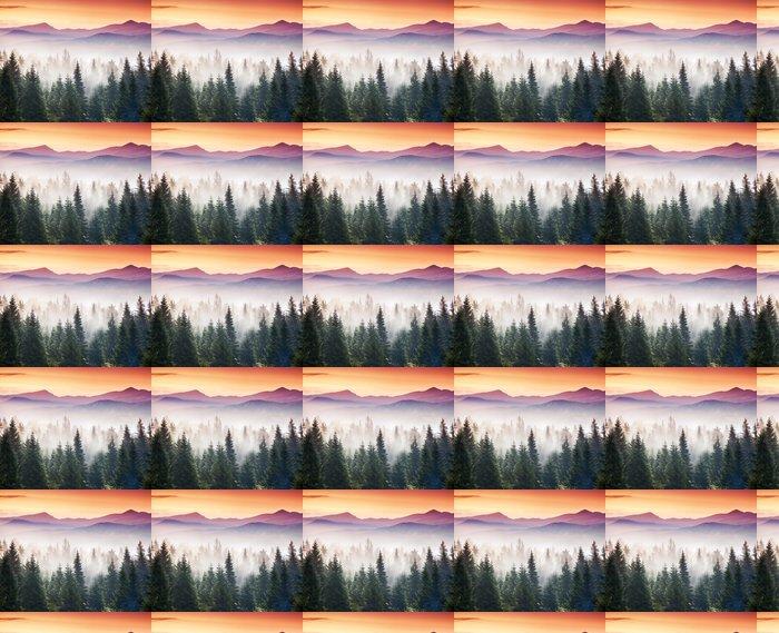 Vinylová Tapeta Horská krajina - Roční období