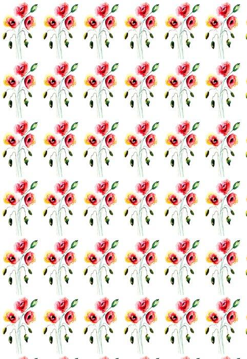Vinylová Tapeta Mák květiny - Květiny