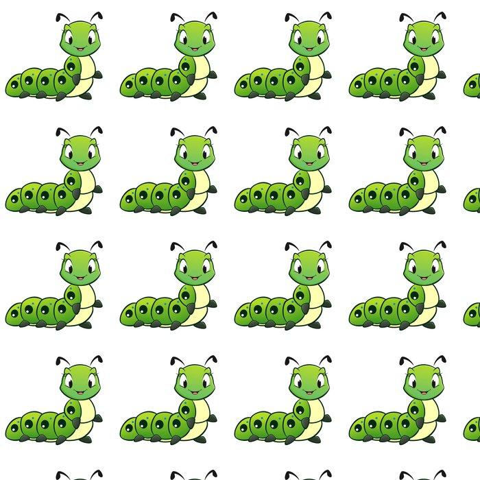 Vinylová Tapeta Cartoon Caterpillar - Ostatní Ostatní