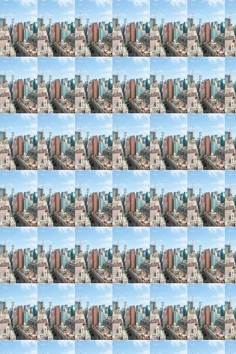 Vinylová Tapeta New York City Manhattan pohled na panorama s Chrysler Building vt - Americká města