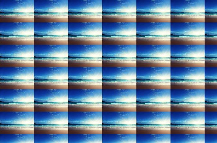 Vinylová Tapeta Západ slunce na pláži Seychely - Témata