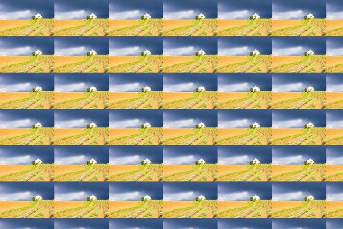 Vinylová Tapeta Kaple s levandulí pole, plateau de valensole, provence, Fran - Evropa