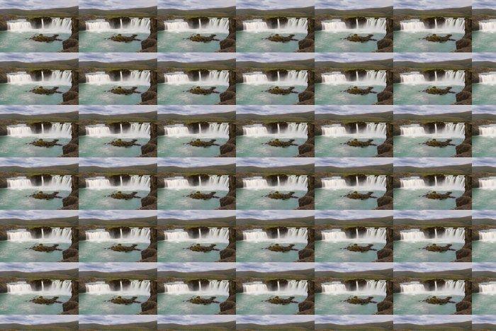 Vinylová Tapeta Vodopád Godafoss - Evropa