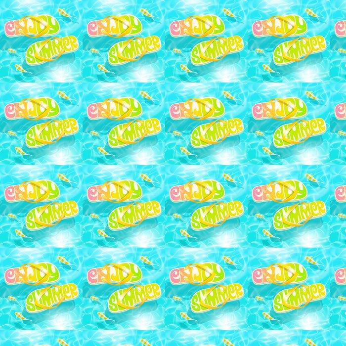 Vinylová Tapeta Flip-flop s letní pozdrav - Prázdniny