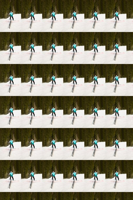 Vinylová Tapeta Ten muž na koni na kolejích - Prázdniny