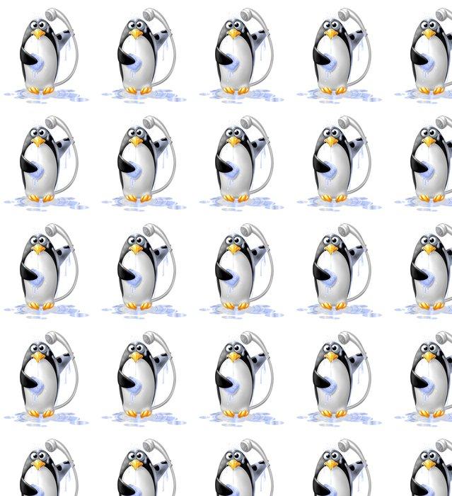 Vinylová Tapeta Pinguino Doccia - Nálepka na stěny