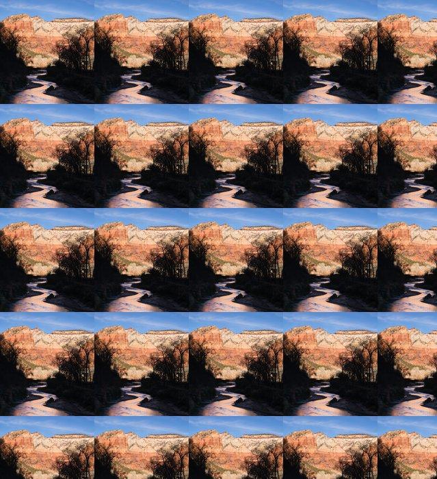 Vinylová Tapeta Říčních toků Sunrise Glow Rocky Butte Národní park Zion - Amerika