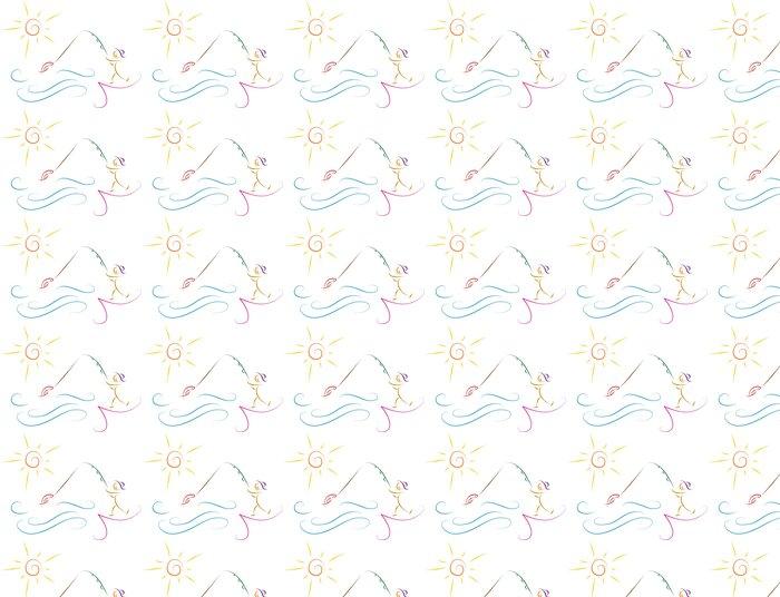 Vinylová Tapeta Rybolov muž skica vektorové ilustrace - Jiné pocity