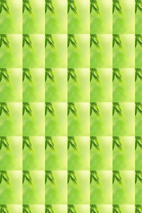 Vinylová Tapeta Krásné zelené pozadí s bambusovými listy - Struktury