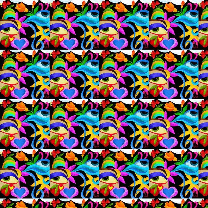 Vinylová Tapeta Abstraktní oči - Jiné pocity
